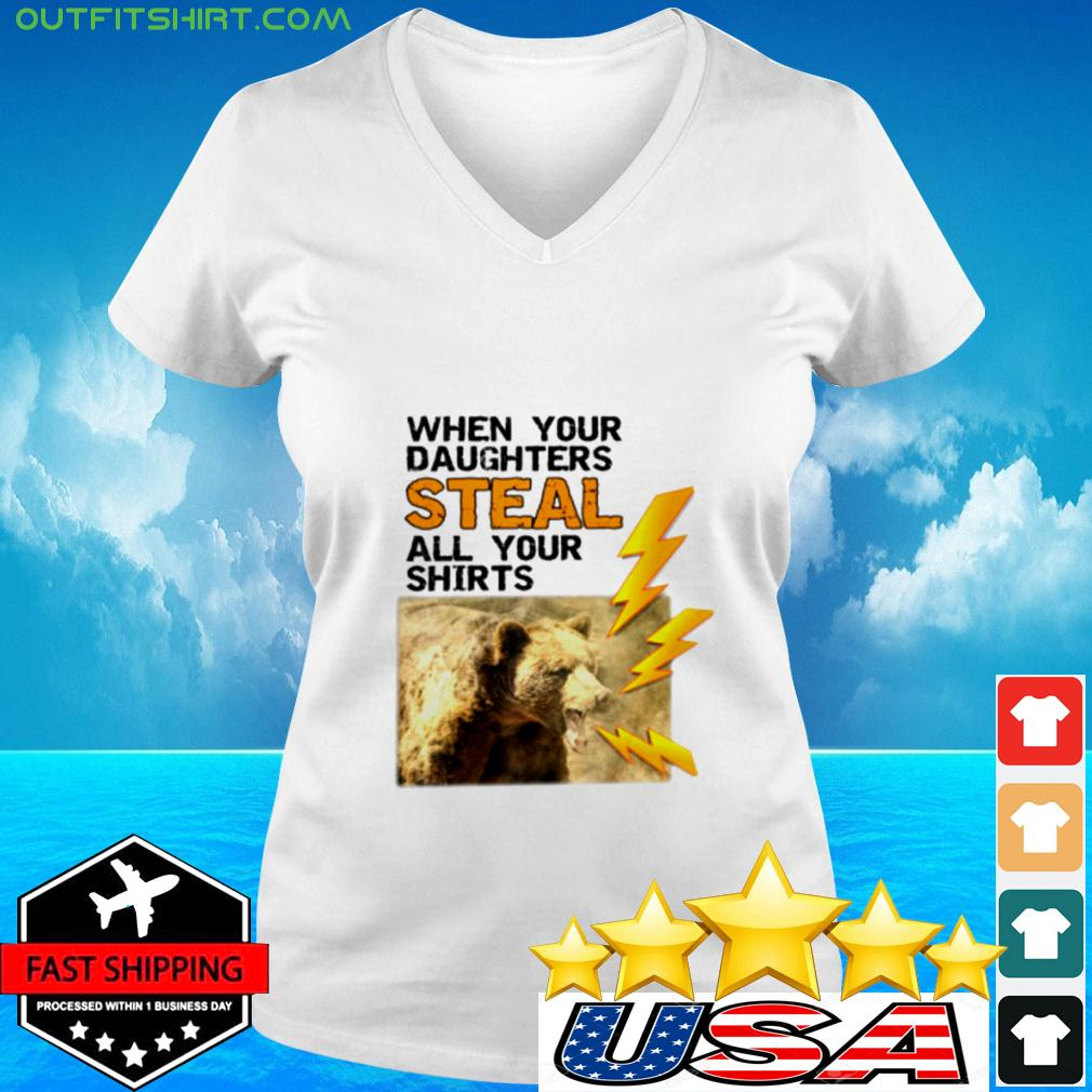 Mens Funny When Your Daughters Steal All Your Clot v-neck t-shirt