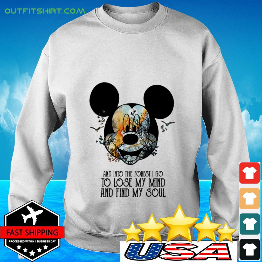 Mickey Mouse Earth day and into the forest I go to lose my mind and find my soul sweater