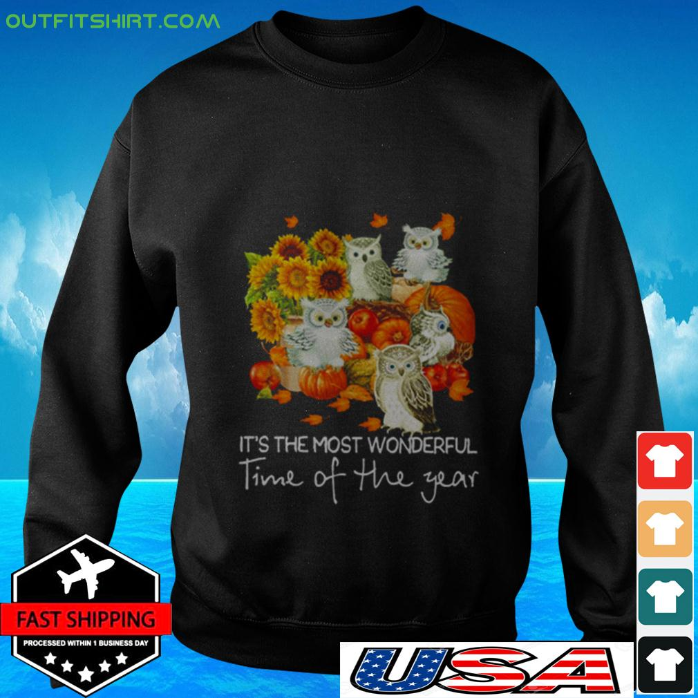 Owl It's the most wonderful time of the year sweater