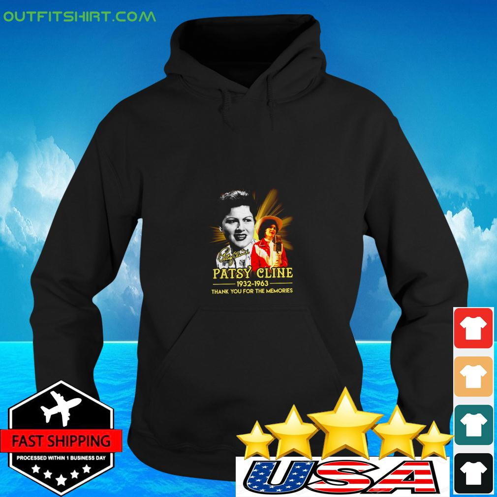 Patsy Cline 1932 1936 thank you for the memories signature hoodie