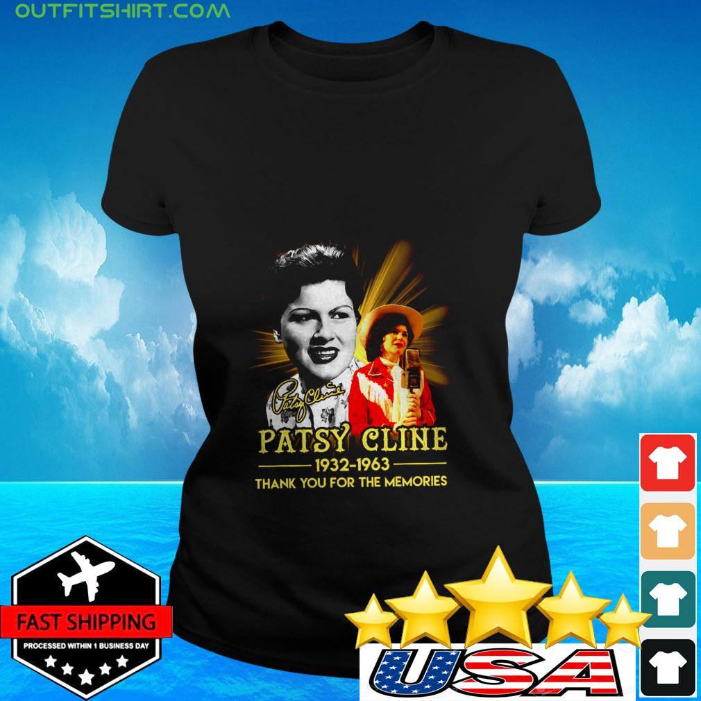 Patsy Cline 1932 1936 thank you for the memories signature ladies-tee