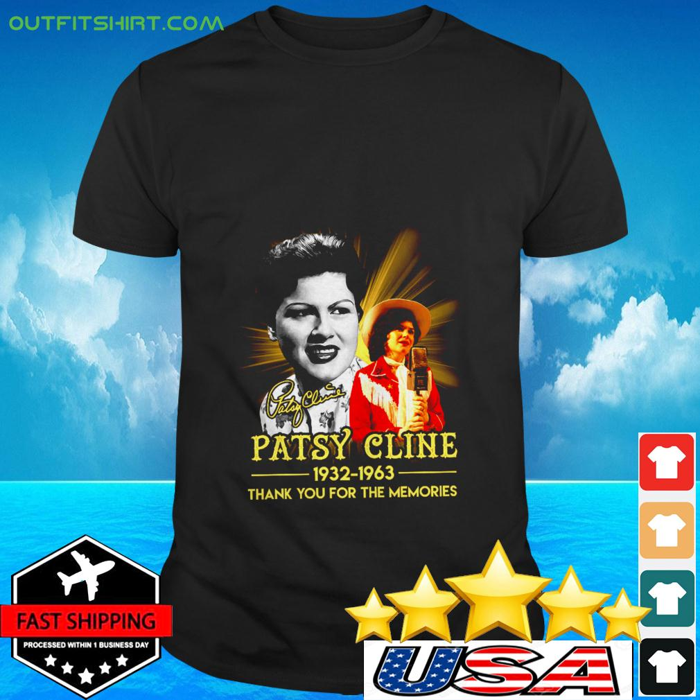 Patsy Cline 1932 1936 thank you for the memories signature t-shirt