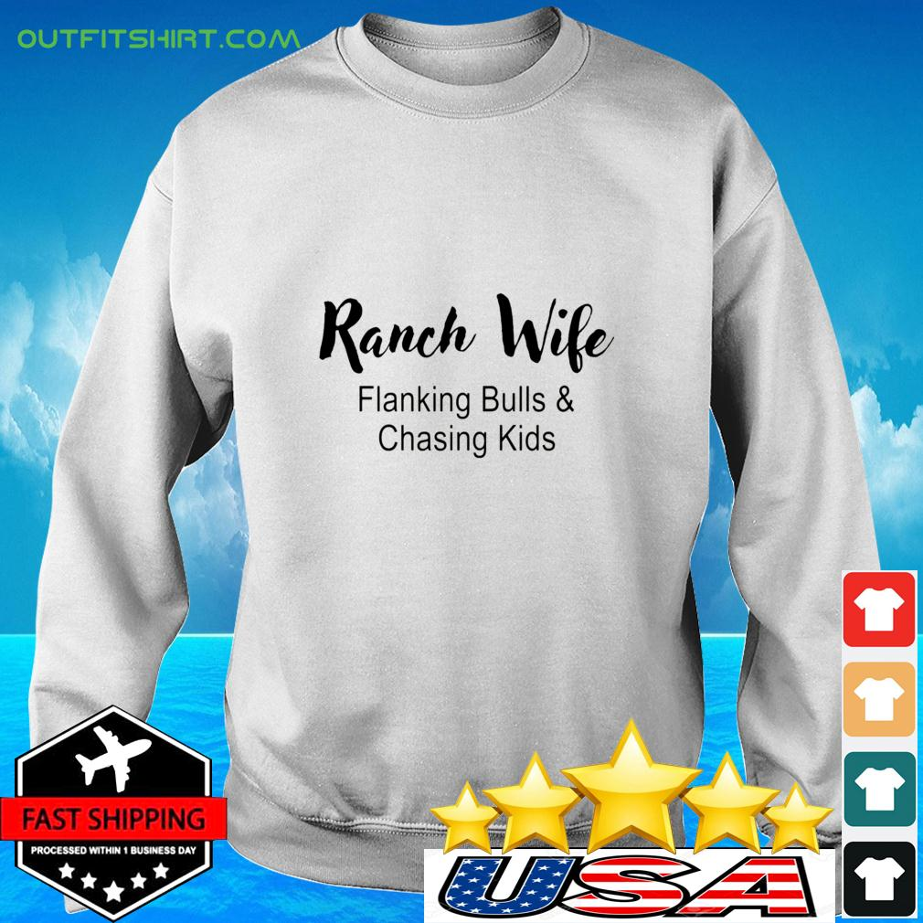 Ranch Wife Flanking Bulls Chasing Kids sweater
