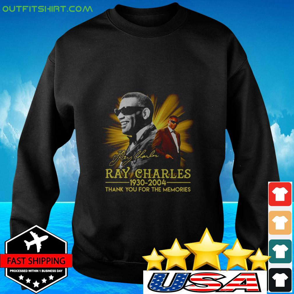 Ray Charles 1930 2004 thank you for the memories signature sweater