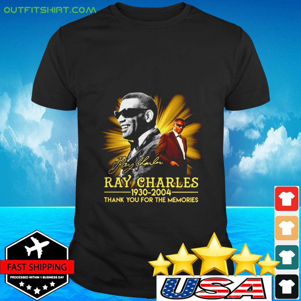 Ray Charles 1930 2004 thank you for the memories signature t-shirt