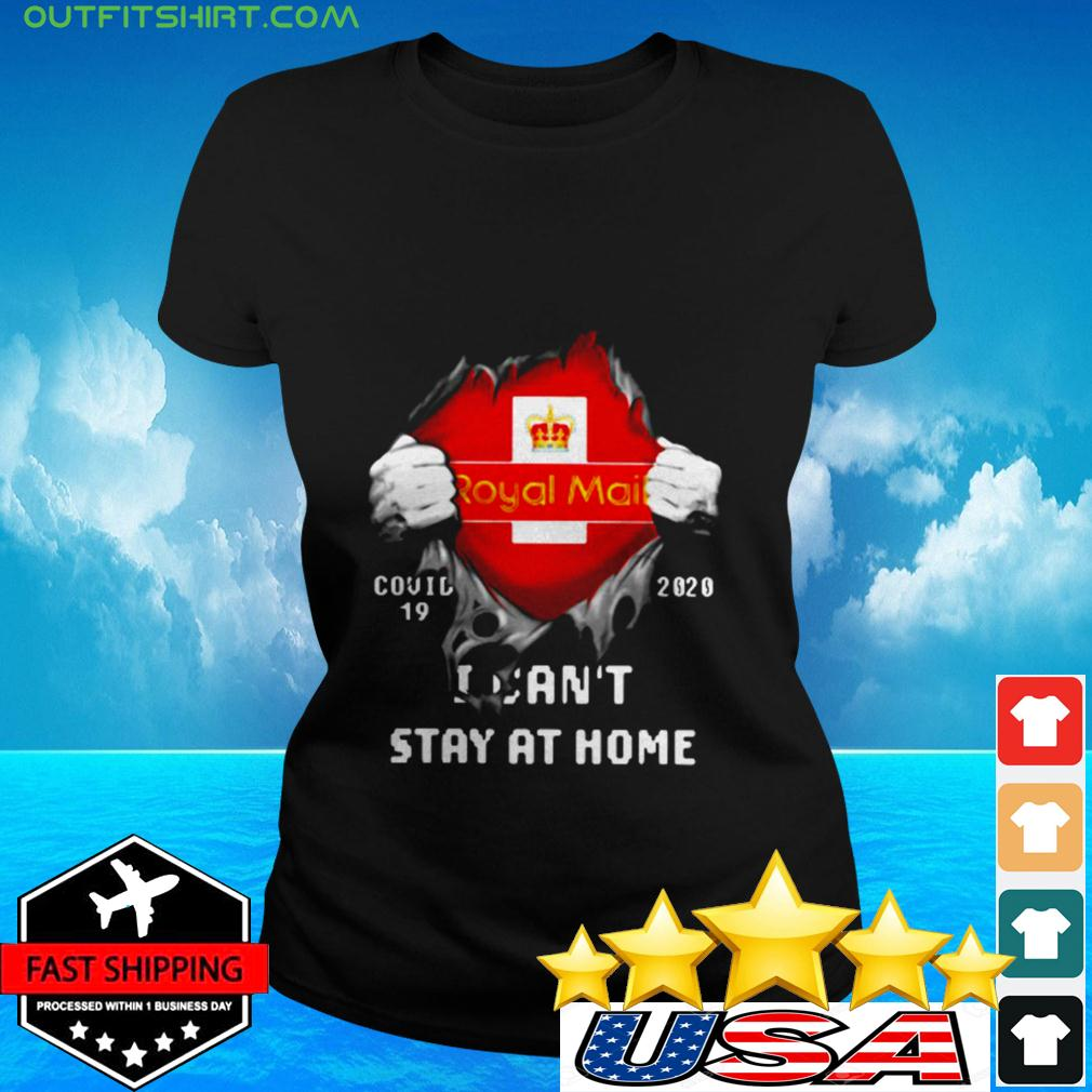 Royal Mail Covid-19 2020 I can't stay at home ladies-tee