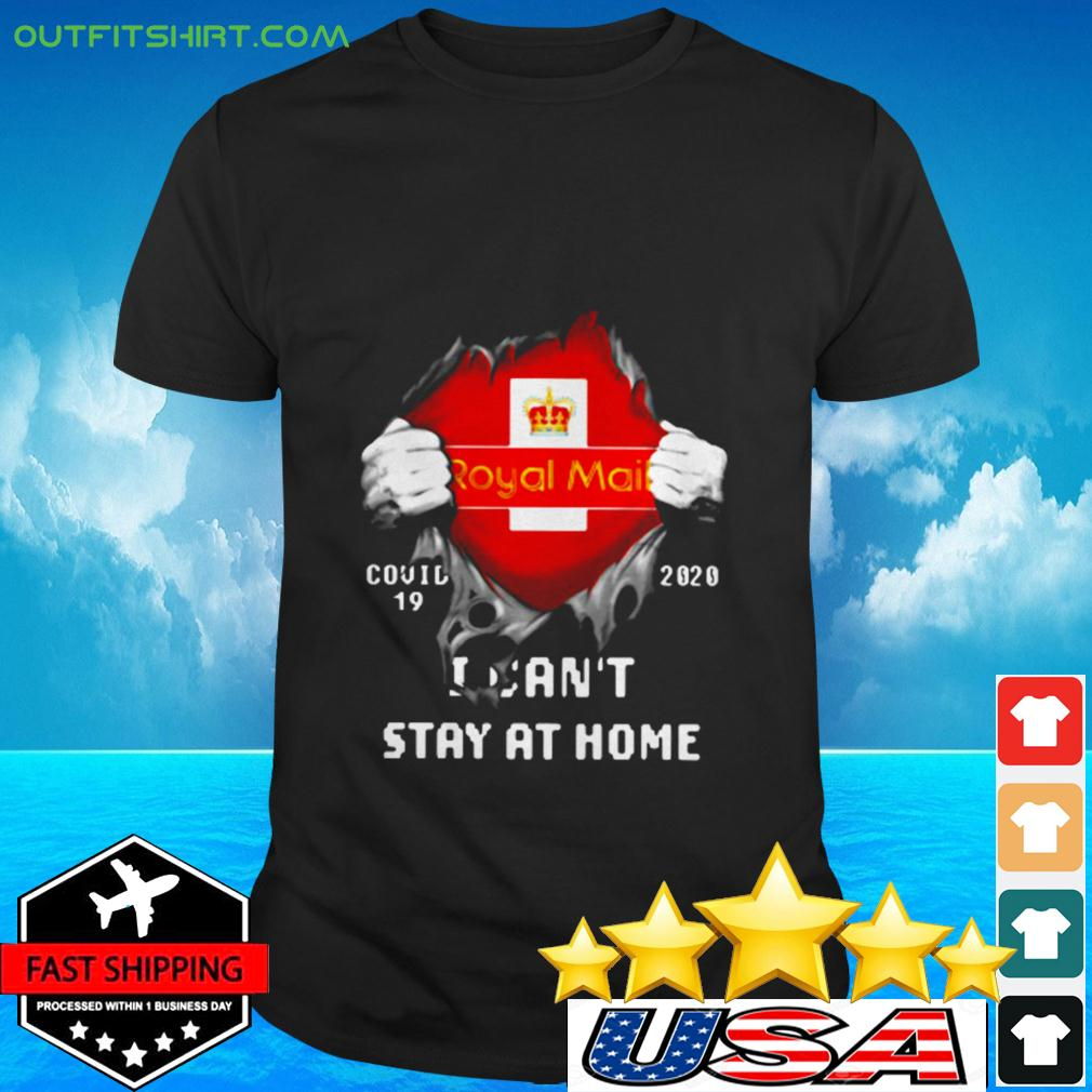 Royal Mail Covid-19 2020 I can't stay at home t-shirt