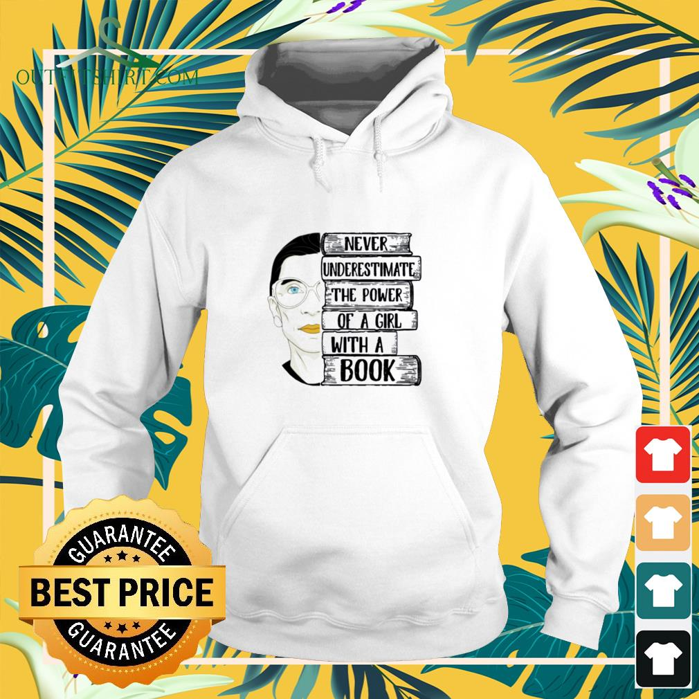 Ruth Bader never underestimate the power of a girl with a book Mug hoodie