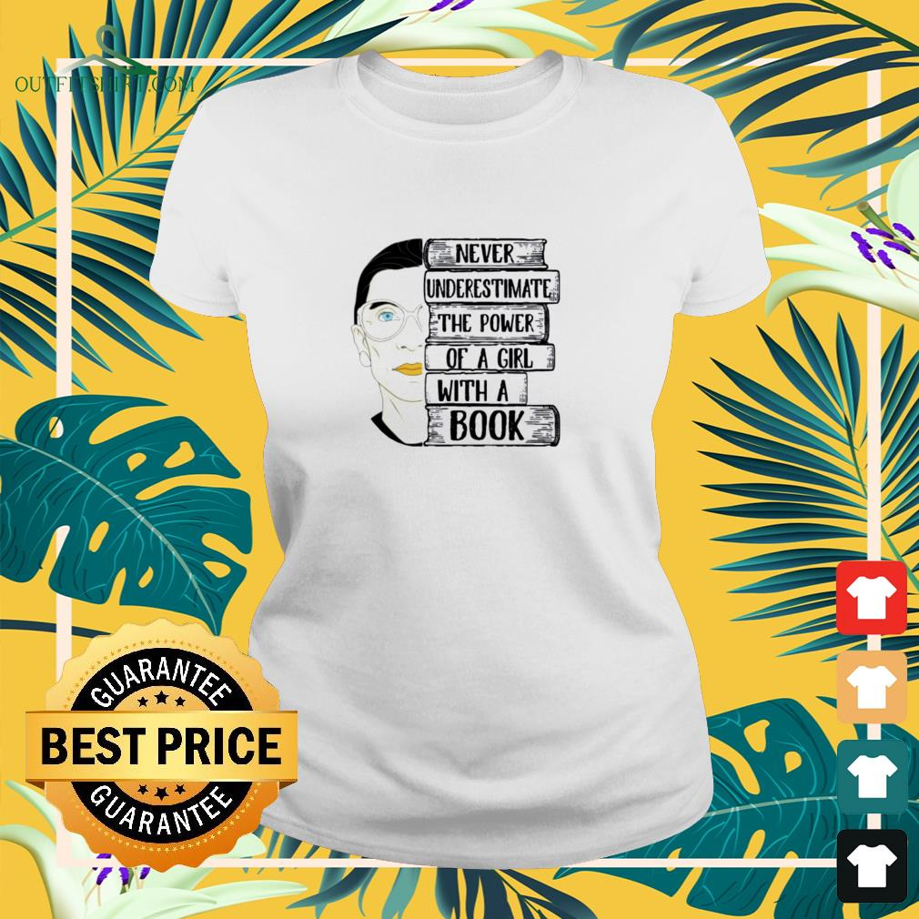 Ruth Bader never underestimate the power of a girl with a book Mug ladies-tee