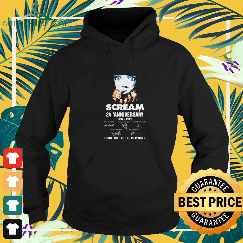 Scream TV series 24th anniversary 1996-2020 signature thank you for the memories hoodie