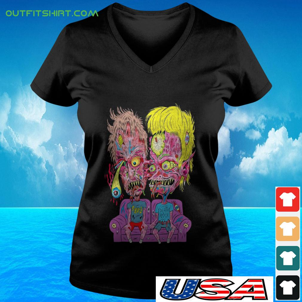 Scumbags And Superstars Beavis and Butthead v-neck t-shirt