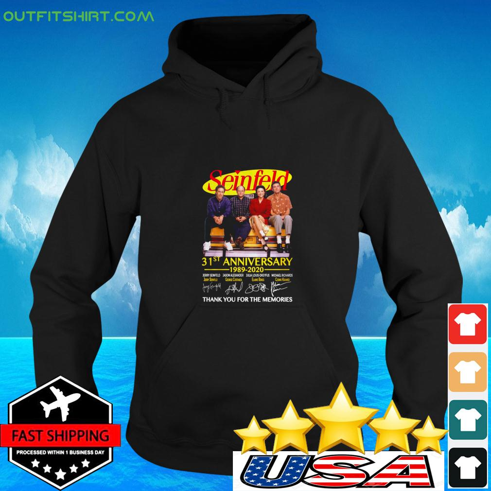 Seinfeld 31st anniversary 1989 2020 thank you for the memories signatures hoodie