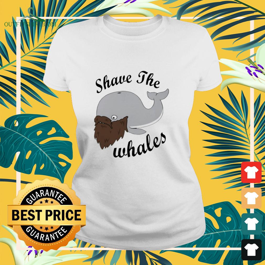 Shave the Whales beard ladies-tee