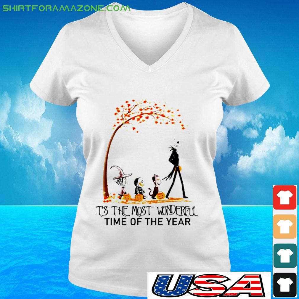 Skellingotn Halooween It's the most wonderful time of the year v-neck t-shirt
