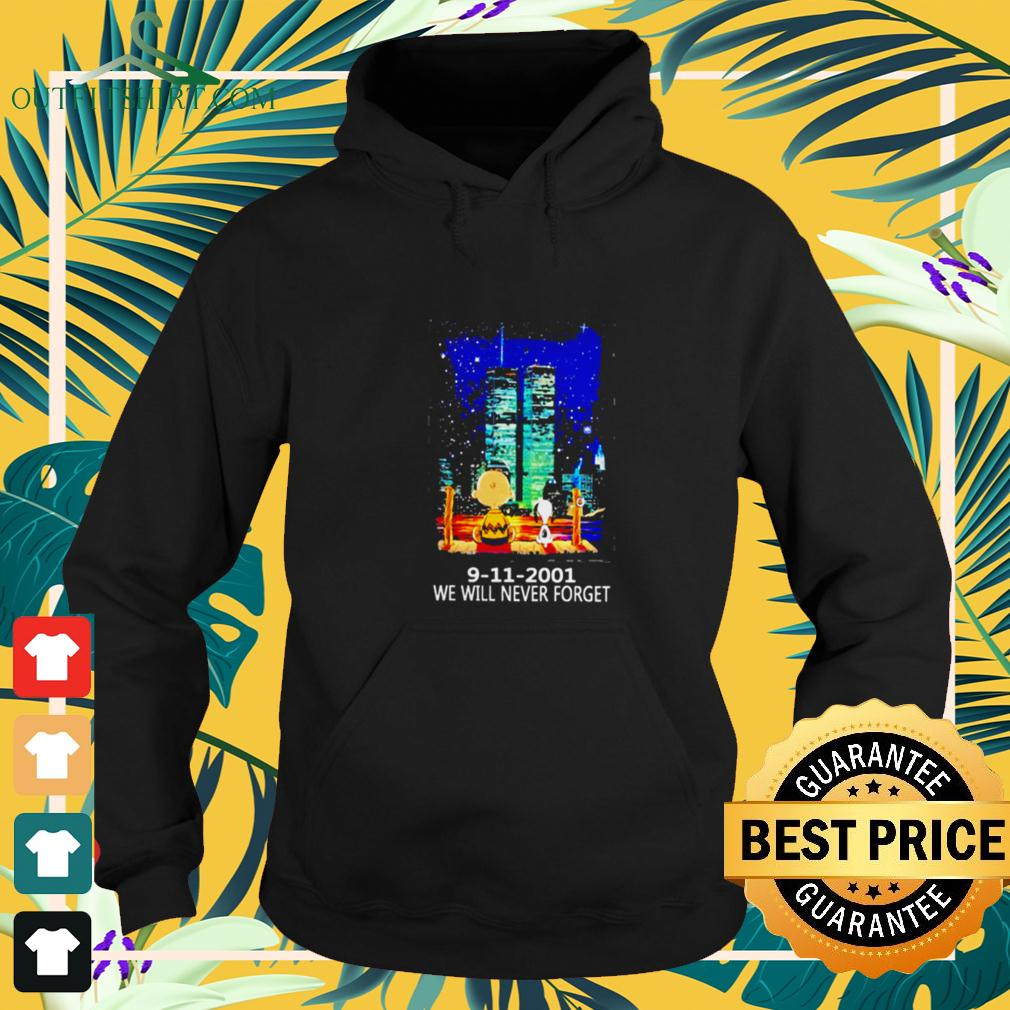 Snoopy and Charlie Brown World Trade Center 9 11 2001 We will never forget hoodie