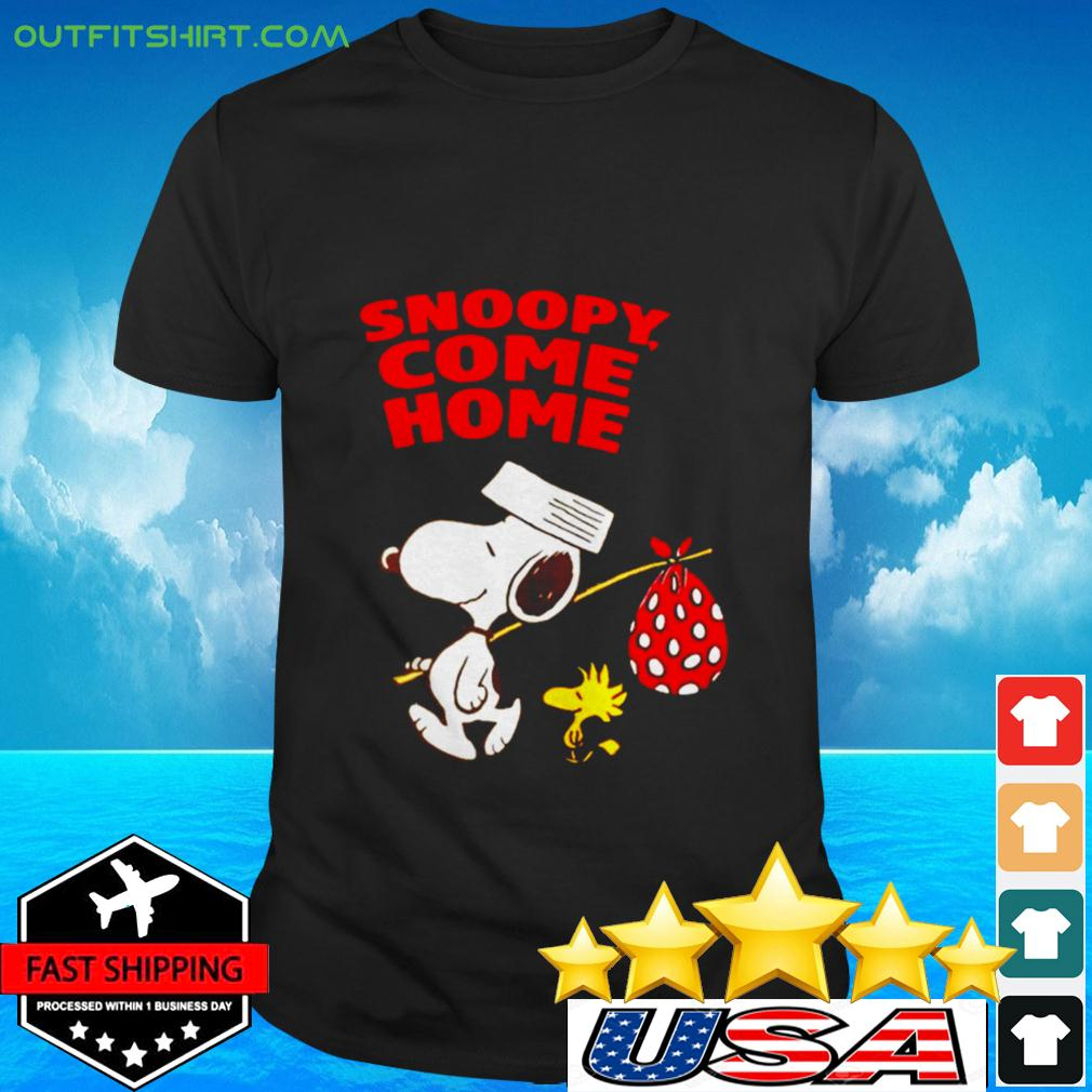 Snoopy and Woodstock come home t-shirt