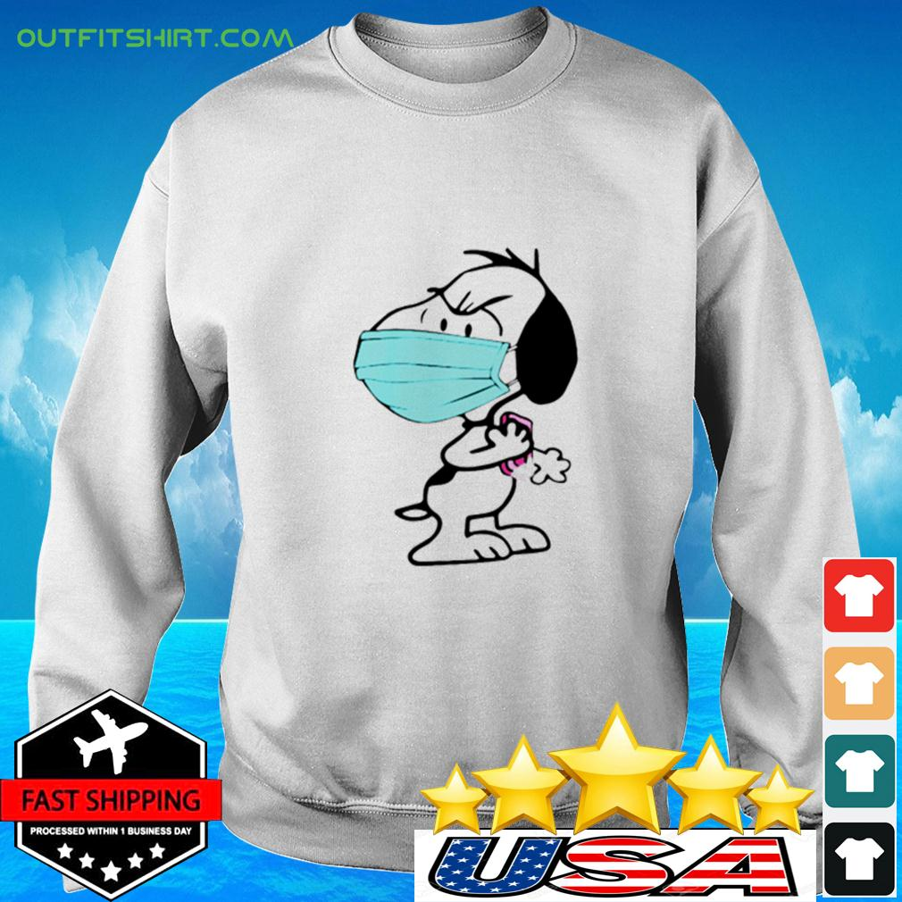 Snoopy Wearing Mask Wash Your Damn Hands sweater