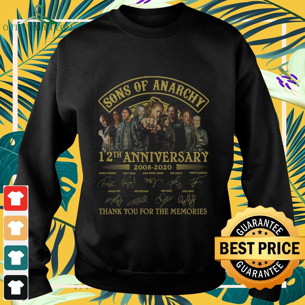 Sons of Anarchy 12th anniversary 2008 2020 thank you for the memories sweater