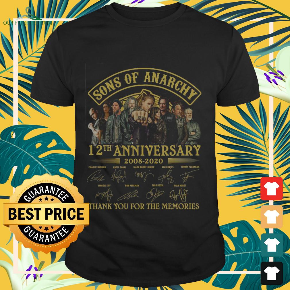 Sons of Anarchy 12th anniversary 2008 2020 thank you for the memories t-shirt