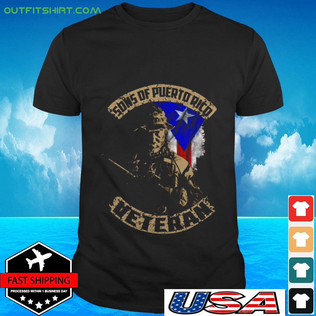Sons of puerto ricd veteran t-shirt