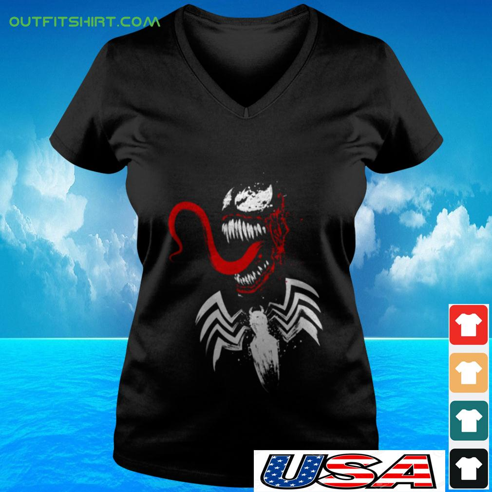 Spiderman Venom v-neck t-shirt