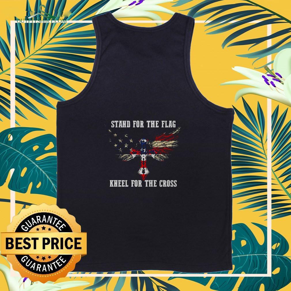 Stand for the Flag America kneel for the cross  tanktop