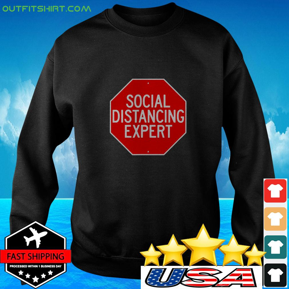 Stop Through Social Distance Funny Introvert sweater