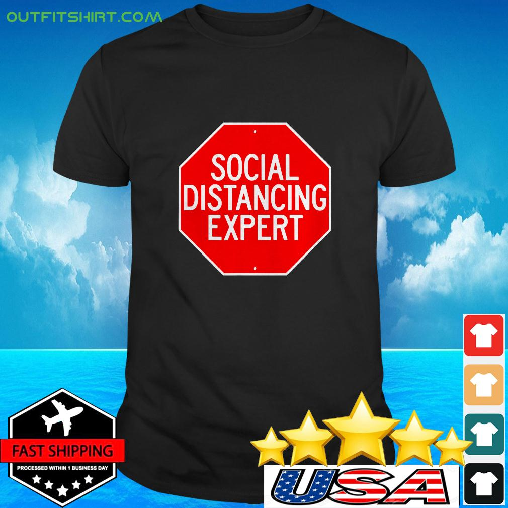 Stop Through Social Distance Funny Introvert t-shirt