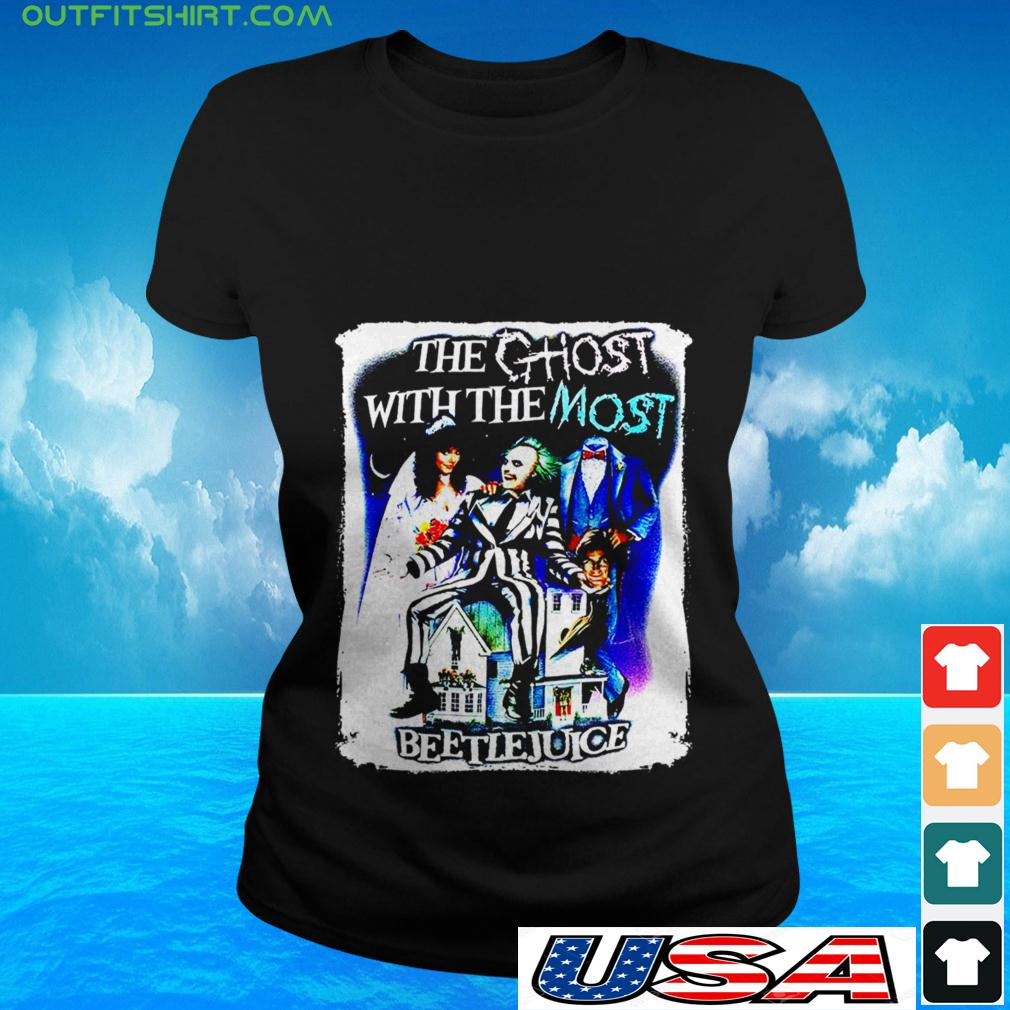 The ghost with the most Beetlejuice ladies-tee