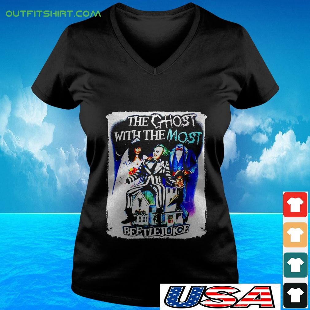 The ghost with the most Beetlejuice v-neck t-shirt