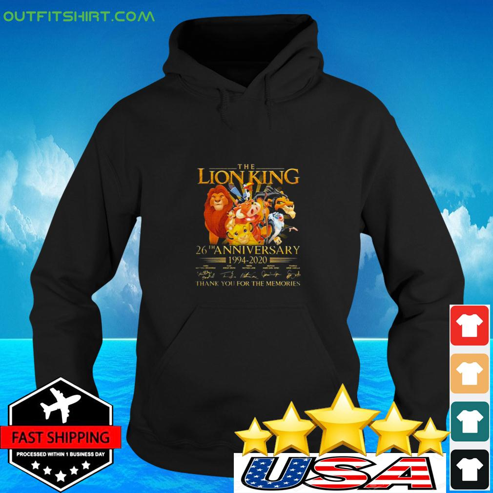 The Lion King 26th Anniversary 1994-2020 Signatures Thank You For The Memories hoodie
