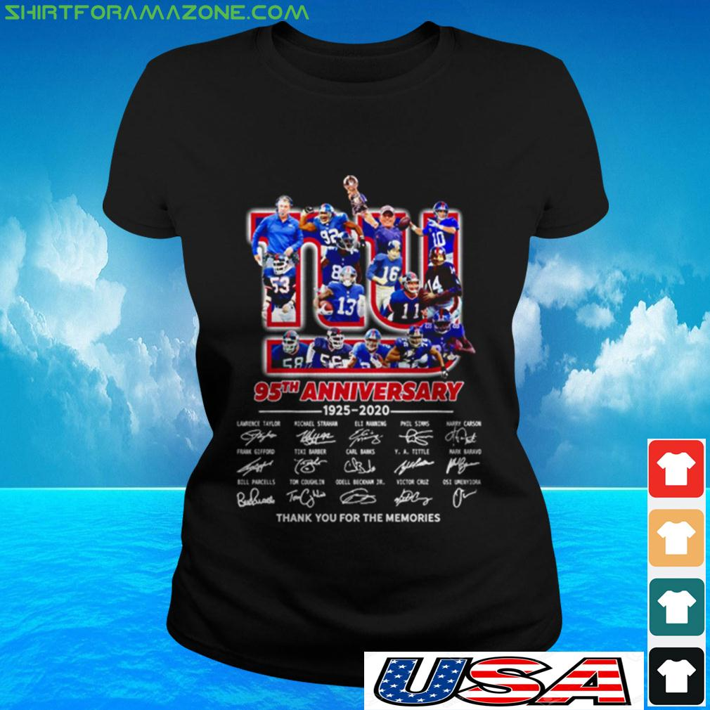 The New York Rangers 95th anniversary 1926 2021 thank you for the memories ladies-tee