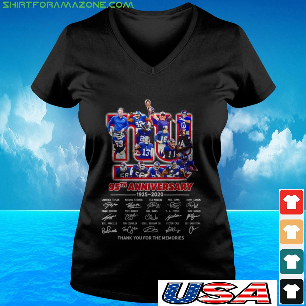 The New York Rangers 95th anniversary 1926 2021 thank you for the memories v-neck t-shirt