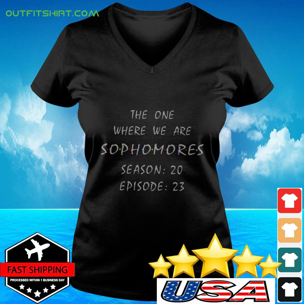 The one where we are sophomores season 20 epsiode 23 v-neck t-shirt