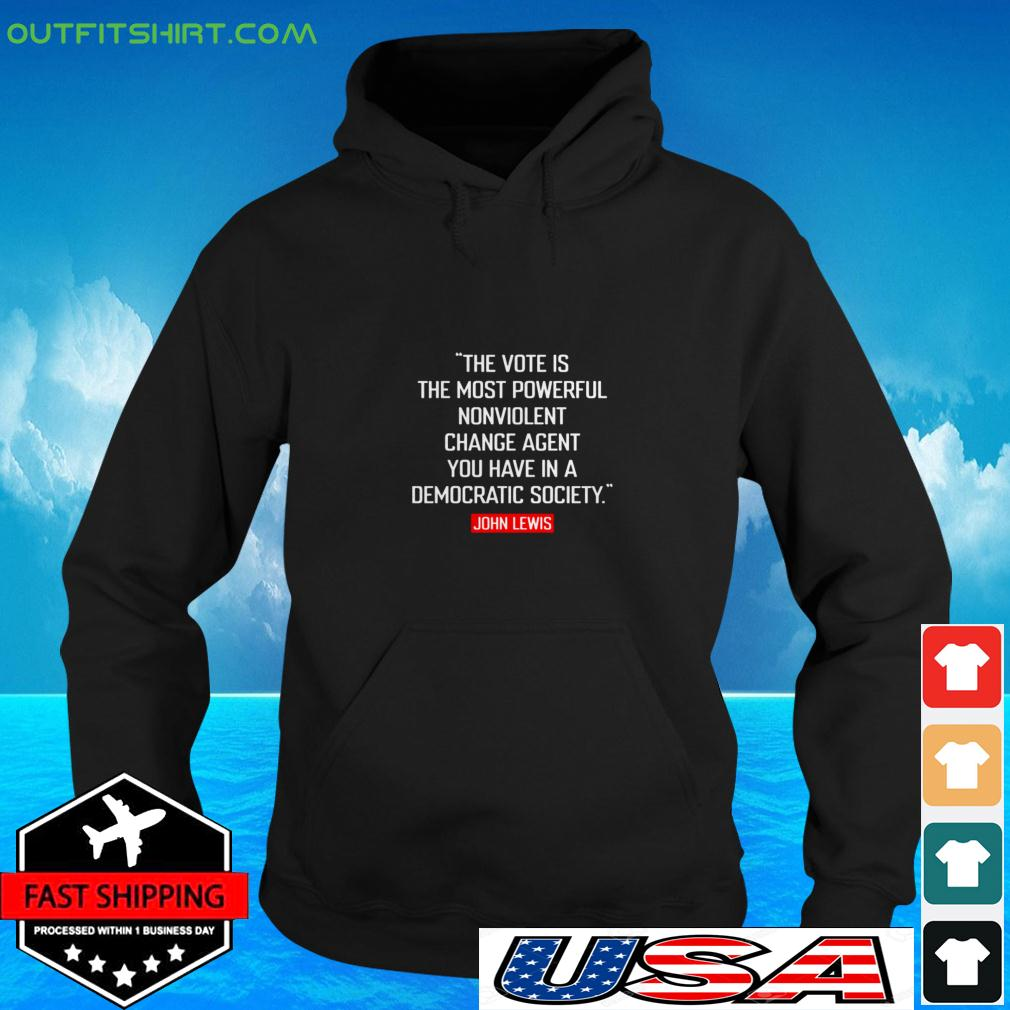 The vote is the most powerful nonviolent change agent hoodie