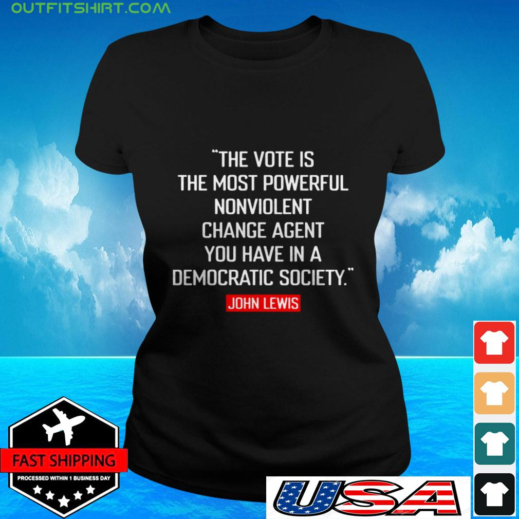 The vote is the most powerful nonviolent change agent ladies-tee