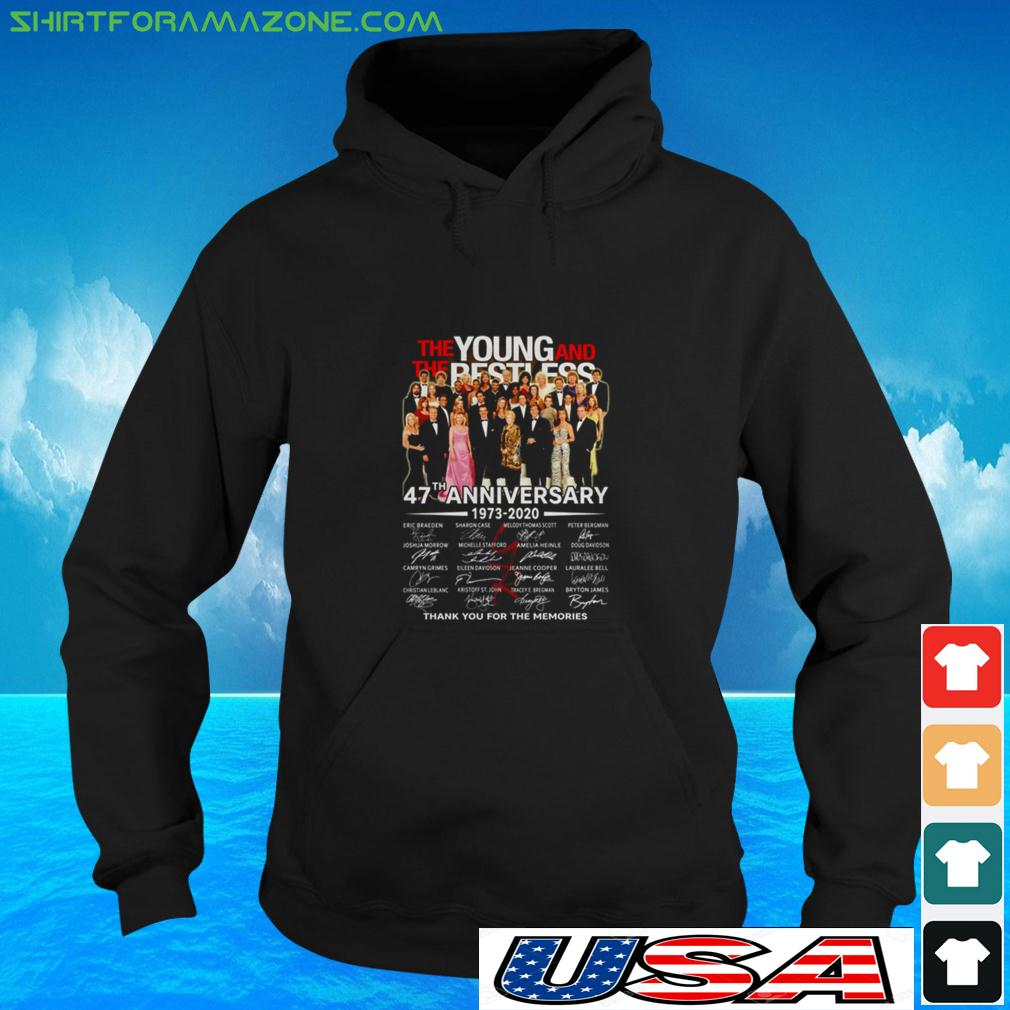 The Young and The Restless 47th Anniversary 1973 2020 thank you for the memories hoodie