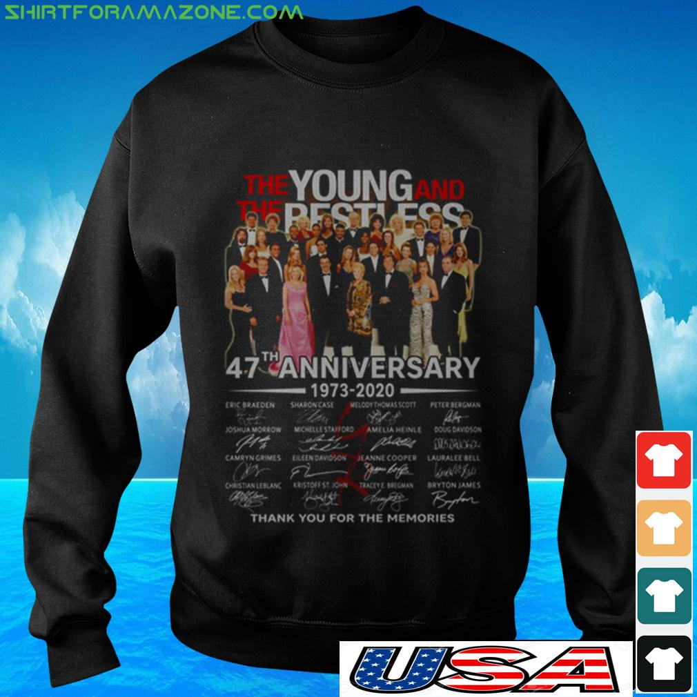 The Young and The Restless 47th Anniversary 1973 2020 thank you for the memories sweater