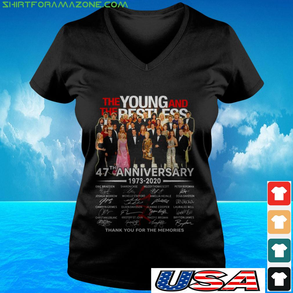 The Young and The Restless 47th Anniversary 1973 2020 thank you for the memories v-neck t-shirt