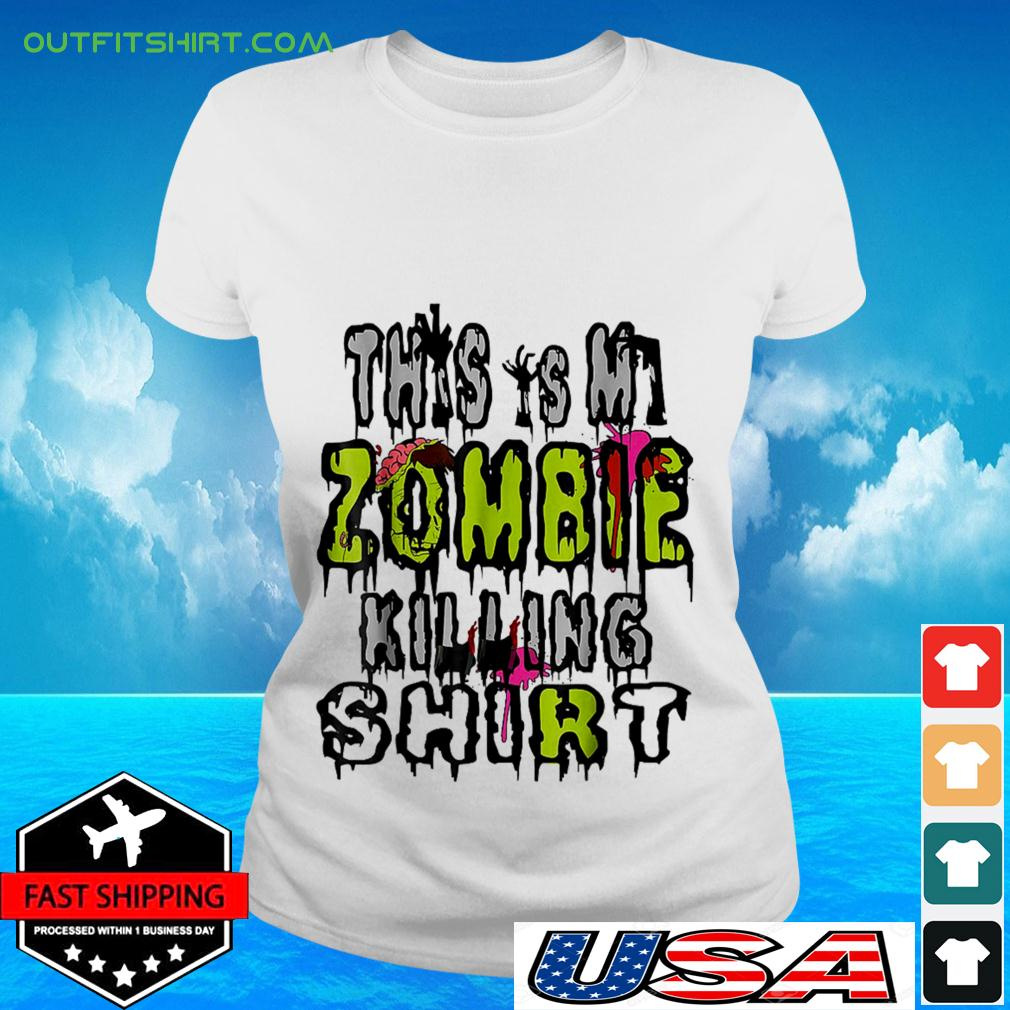This is my zombie killing ladies-tee