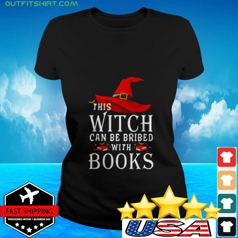This Witch can be brided with books ladies-tee