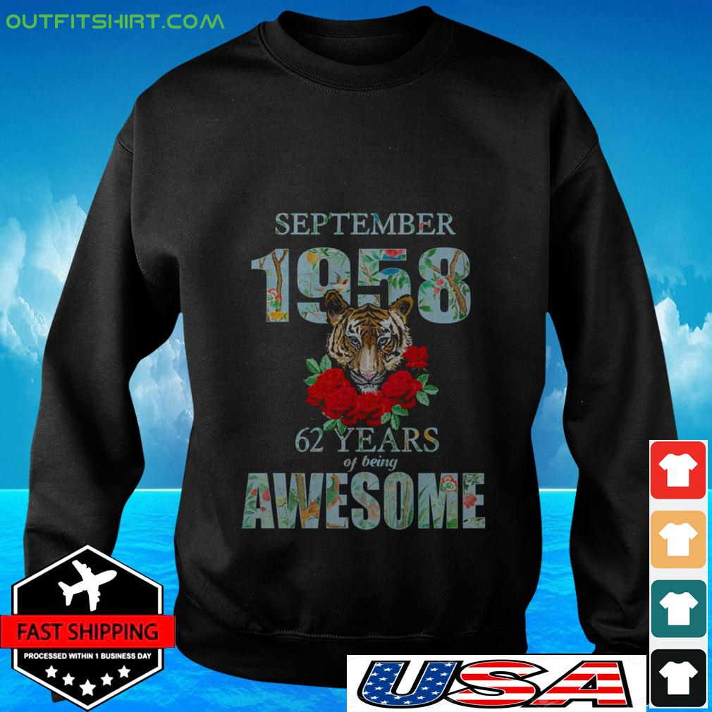 Tiger September 1958 62 years of being awesome sweater