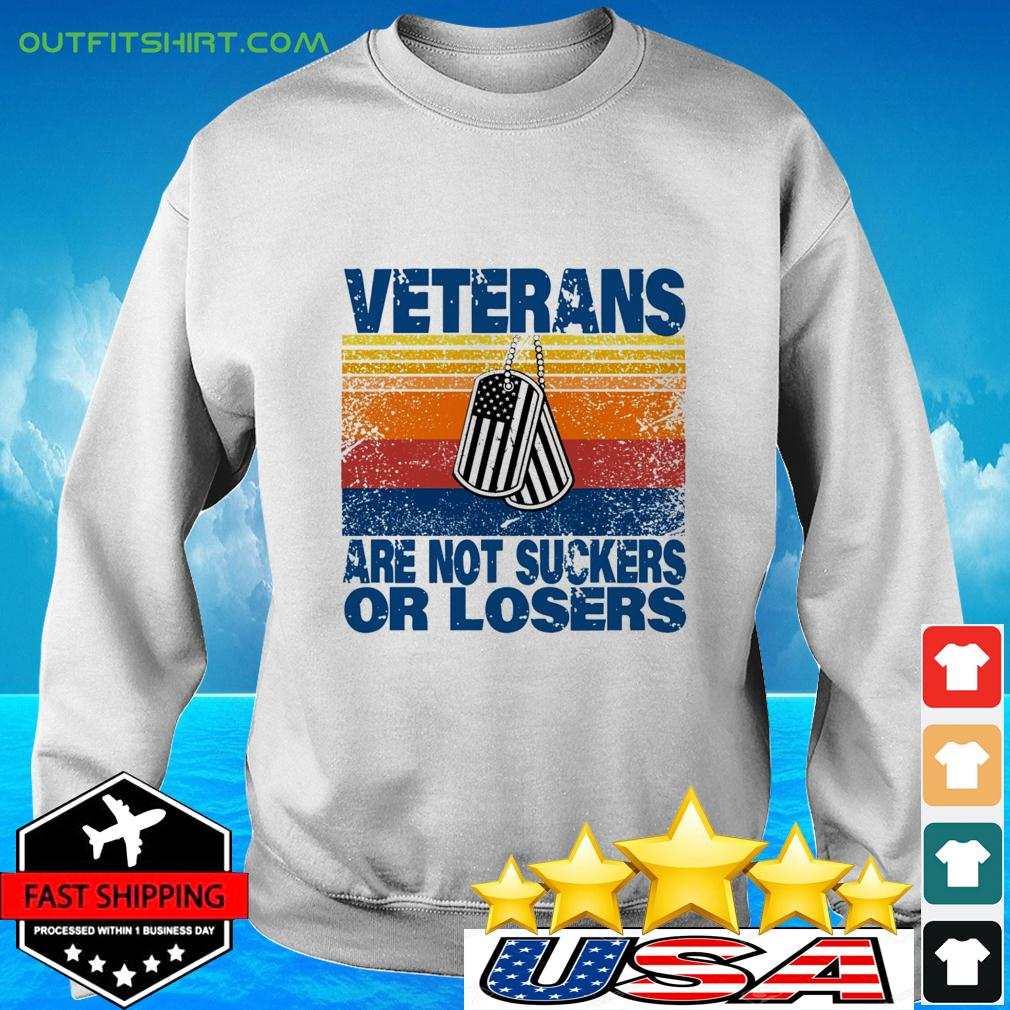 Veterans are not suckers or losers vintage sweater