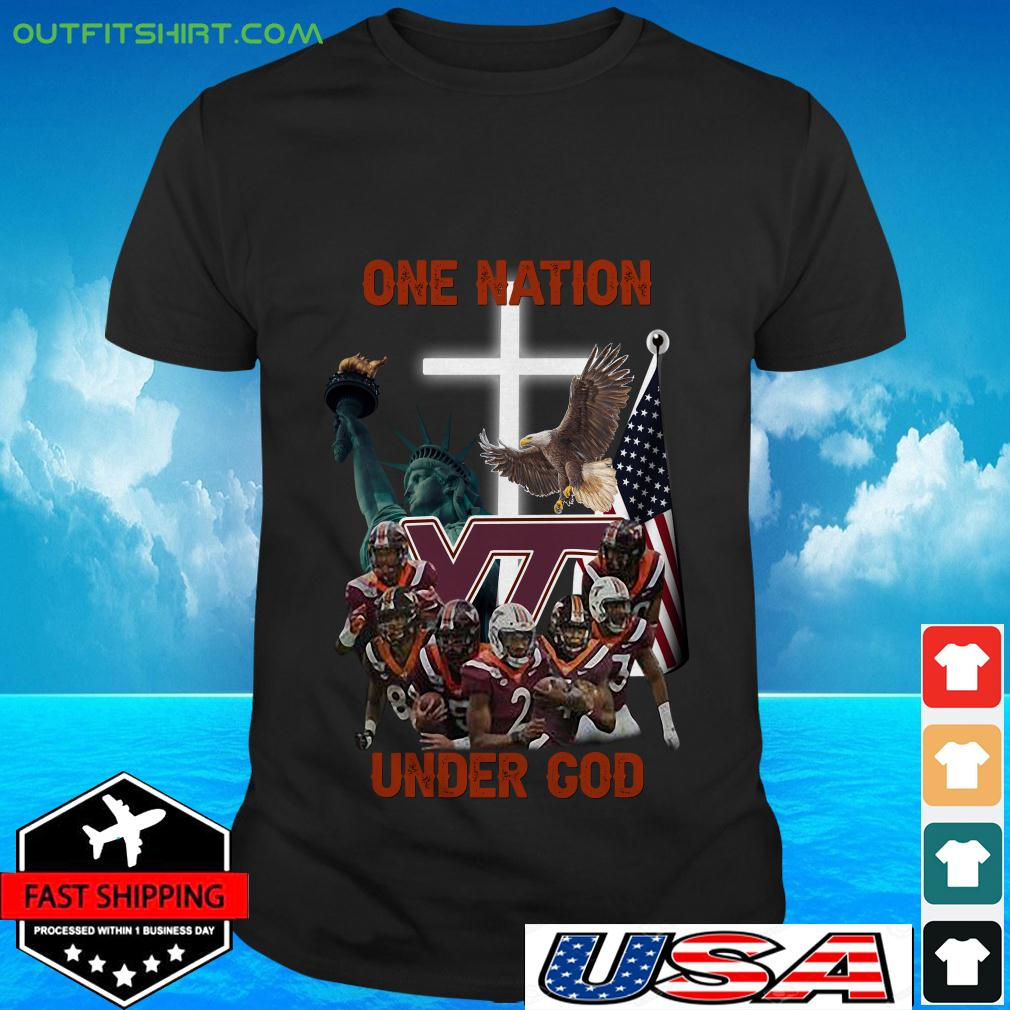 Virginia Tech Hokies one nation under God t-shirt