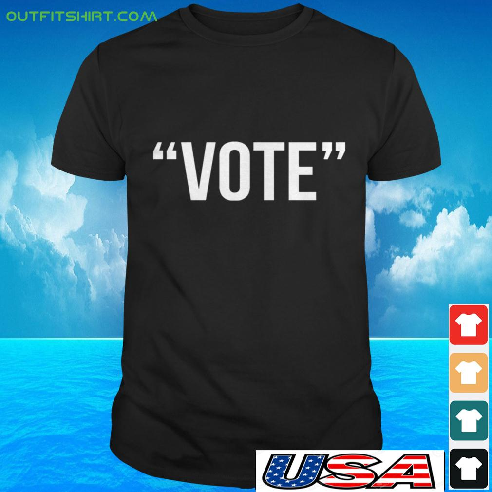 Vote the simple one word t-shirt