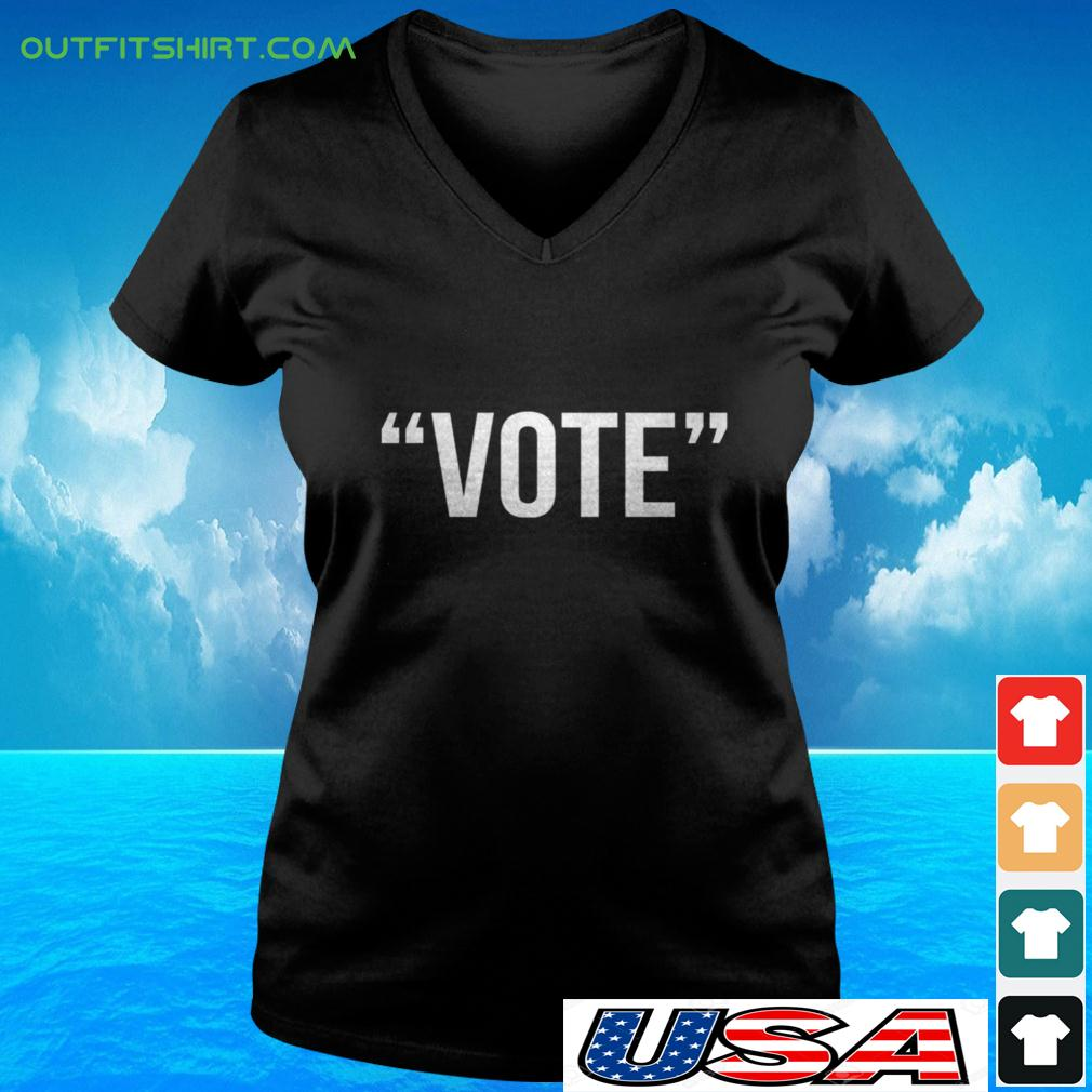Vote the simple one word v-neck t-shirt