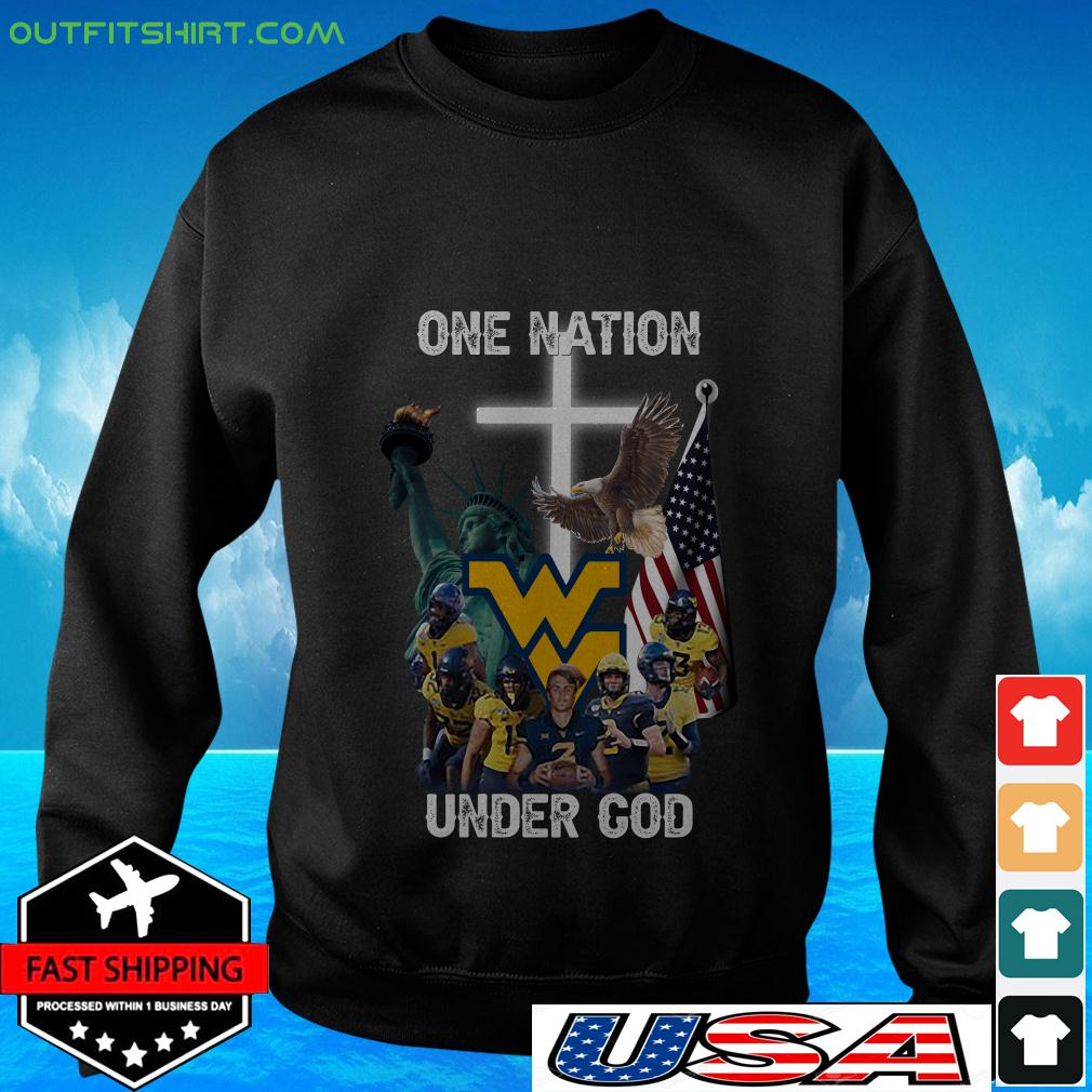 West Virginia Mountaineers one nation under God sweater