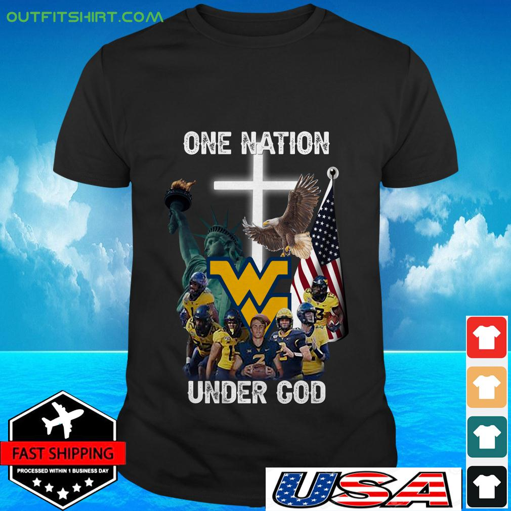 West Virginia Mountaineers one nation under God t-shirt