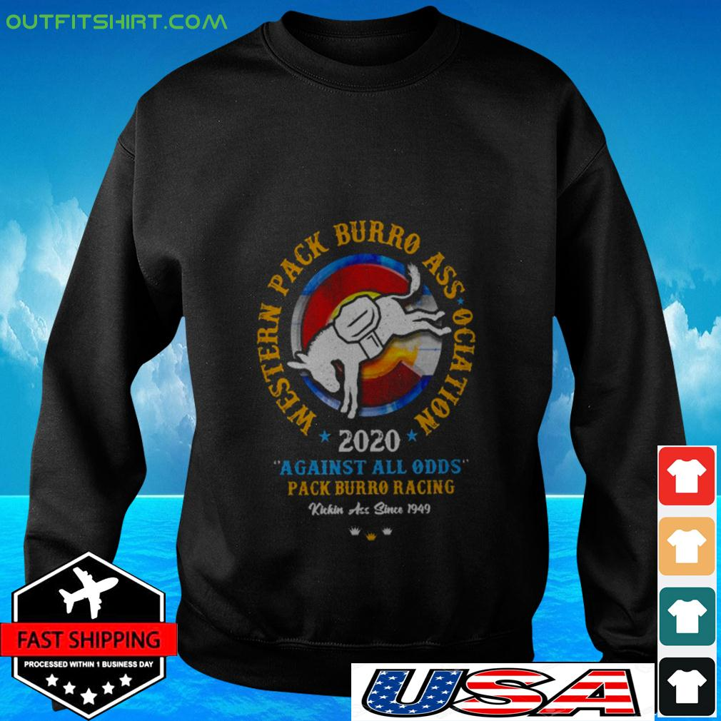 Western pack burro association 2020 against all odds pack burro racing sweater