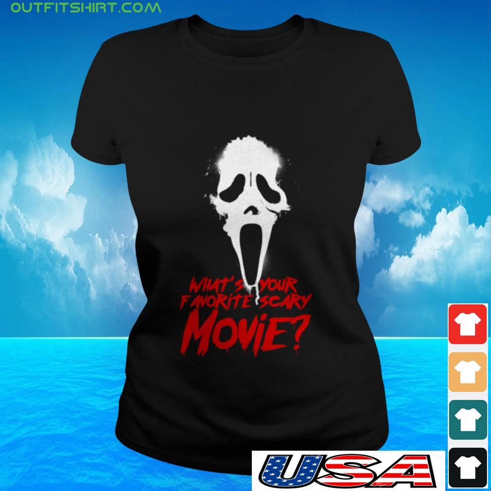 What's your favorite scary movie ladies-tee
